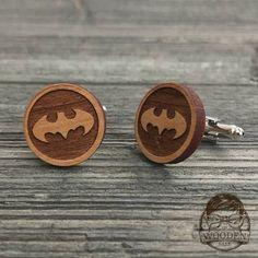 Para Hombre Gemelos De Batman En Madera. Corte Láser /& Grabado