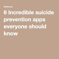 6 Incredible suicide prevention apps everyone should know