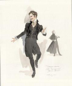 Uncle Drosselmeir costume design from Boston Ballet's The Nutcracker