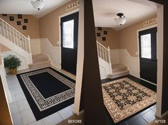Foyer Painting Or How To Paint Your Tile Floors When Love Grows More