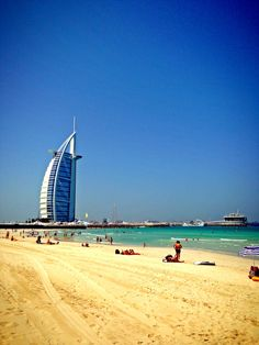 Jumeirah Beach and Burj Al Arab, Dubai, UAE. Missing my childhood city so much
