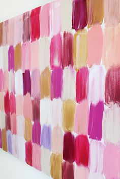Sooo easy and happy and a great way to put a big block of color on the wall when you cant just paint!@Jessica Sutton Cooper