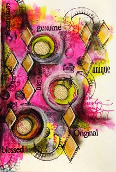Colour play art journal page