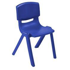ECR4Kids ELR-15414-BL 14in Resin Chair - BL - Set of 6