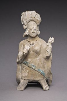 Late Classic Maya, Jaina Campeche or Yucatán, Mexico  Figure of an Aristocratic Lady, A.D. 650/800  Ceramic and pigment