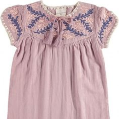 Anoush Embroidered Dress Pink  Louis Louise