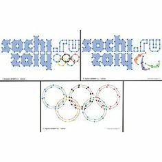 Borduurkaarten Logo Olympische spelen