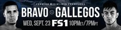 Unbeaten Lightweight Prospect Néstor Bravo Battles José Luis Gallegos in FS1 PBC Fight Night Main Event & on FOX Deportes Wednesday, September 23 from Microsoft Theater in  Los Angeles   Undefeated Featherweights Ranfis Encarnación &  Víctor Pasillas Square Off in Co-Main Event & Plus! Unbeaten Cuban Maidel Sando Takes on Genc Pllana In Super Middleweight Fight on […] The post Unbeaten Lightweight Prospect Néstor Bravo Battles José Luis Gallegos in FS1 PBC Main Event appeared f