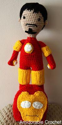 Amidorable Crochet: Tony Stark...aka Iron Man!
