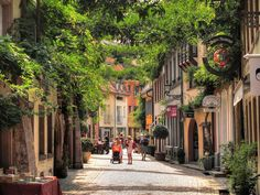 "Freiburg, Germany. I got my first taste of ""sitting around in a coffee shop all day""--"