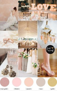 rose blush gold wedding theme,Rose Gold Wedding Color Palette for autumn wedding,rose gold blush wedding color,autumn blush gold wedding,wedding colors Gold Wedding Colors, Gold Wedding Theme, Rose Wedding, Wedding Color Schemes, Wedding Themes, Dream Wedding, Wedding Decorations, Wedding Day, Trendy Wedding