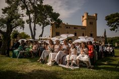 Outdoor destination wedding at Torre Veguer, Sitges, Barcelona photographed by Andreu Doz Photography Best Wedding Destinations, Best Wedding Venues, Wedding Blog, Wedding Ceremony, Destination Wedding, Barcelona, Going To Rain, Sitges, Dolores Park