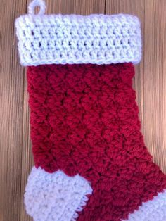 Free Crochet Stocking Pattern: Step by Step - Darice Crochet Christmas Stocking Pattern, Crochet Stocking, Bag Crochet, Crochet Christmas Ornaments, Holiday Crochet, Crochet Home, Crochet Crafts, Crochet Projects, Free Crochet
