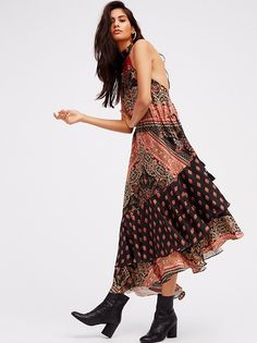 Painted Flowers Midi Dress from Free People!