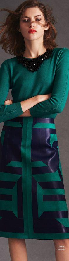 Oscar de la Renta Pre Spring 2016 collection women fashion outfit clothing style apparel @roressclothes closet ideas