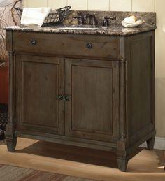 Found it at Wayfair - Neeson Bathroom Vanity Base 36 Bathroom Vanity, Sink Faucets, Wood Cabinets, Kitchen And Bath, Natural Wood, Architecture Design, Home Improvement, Hardwood, Interior Design