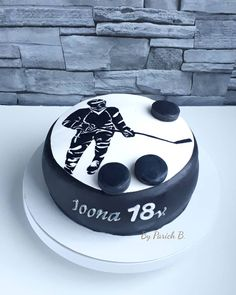 18 years old birthday cake, the first cake of this year 2019 😊 Birthday Cakes, Birthday Ideas, Hockey Cakes, Fancy Cakes, Bar Mitzvah, Baked Goods, Cake Ideas, Cookies, Baking