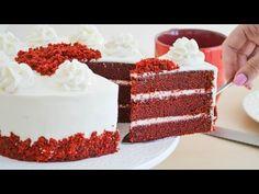 Torta Red Velvet - Terciopelo Rojo - Receta Mousse, Bolo Red Velvet, Christmas Desserts, Flan, Vanilla Cake, Sweet Recipes, Fondant, Sweet Tooth, Bakery