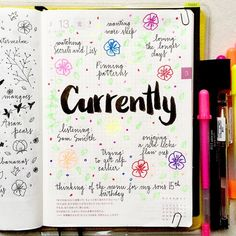 """A """"currently"""" #journalingprompts"""