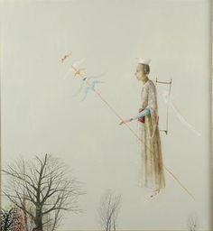 Wing Seller, 2006 - Stefan Caltia Illustrators, Illustration, Art Database, Artist, Painting, Kinder Art, Magic Realism, Old Paintings, Artwork Painting