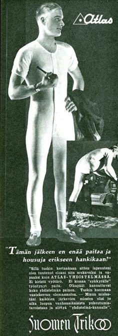 Suomen trikoo- alushaalari Atlas - 1934