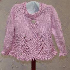 Knitting Patterns Girls Sweaters   Knitting: Lacey Girl Baby Sweater