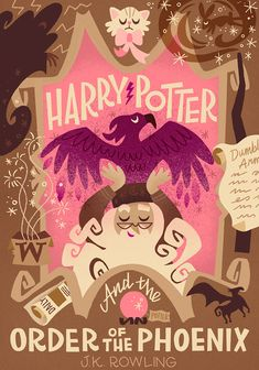 Harry Potter and the Order of the Phoenix by Joel & Ashley Illustration - Only first five completed at this time potter halloween illustration Harry Potter Book Covers, Harry Potter Artwork, Harry Potter Decor, Harry Potter Wallpaper, Mundo Harry Potter, Harry Potter Fandom, Harry Potter World, Book Cover Design, Book Design
