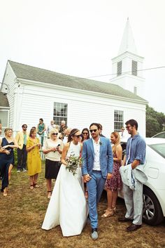 Just married at the Native American Baptist Church in Aquinnah! It was founded in the 1690s by the Wampanoag tribe, and I've been fascinated by it for years—it's simple and tiny and so unique.