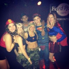 Halloween Party at the Hard Rock in Toronto | Fire Fighter, Army Girls, Superman and Superwoman