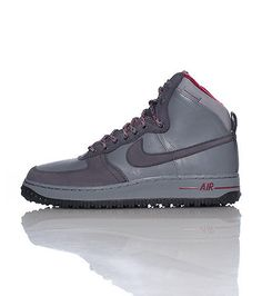 buy popular b6edb 661ec NIKE Air Force One boot Lace closure Leather with suede detail Signature  NIKE swoosh on sides of shoe Padded tongue with NIKE Air logo Cushioned sole