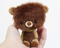 Ammigurumi bear - maybe a sewn head and body with crochet arms and legs. (Inspiration).