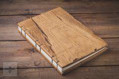 ślubna księga gości, drewniana księga weselna A4 - WOODBEE - Ślubne księgi gości