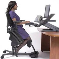 The fundamental concept of how kneeling chairs supply ergonomic benefits stem from the way they motivate great posture. Sitting in a chair in a kneeling ...  sc 1 st  Pinterest & Desk chair that promotes good posture? | Office Stuff | Pinterest ...