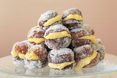 This traditional Italian pastry is similar to a doughnut and is filled with a rich vanilla cream.