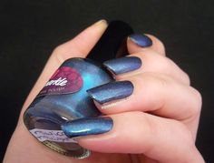Ms. Sparkle Nautical Twilight | Squeaky Nails http://www.squeakynails.com/2015/05/swatches-ms-sparkle-polish-virga-sunset.html