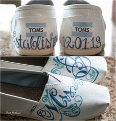 Toms Wedding Shoes, Bride Ideas {Brett Matthews Photography, Northern Valley Affairs at Temple Emanu-El of Closter, NJ} - mazelmoments.com