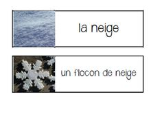Primary French Immersion Resources: Les jeux de mots d'hiver French Practice, Winter Words, Core French, Drawing Activities, French Resources, Vocabulary Games, French Immersion, Reading Centers, Matching Cards