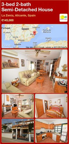Semi-Detached House for Sale in La Zenia, Alicante, Spain Semi Detached, Detached House, Valencia, Alicante Spain, Bath, Bedroom, Majorca, Bathing, Bedrooms