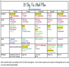 21 day fix meal plan and fitness plan week 2