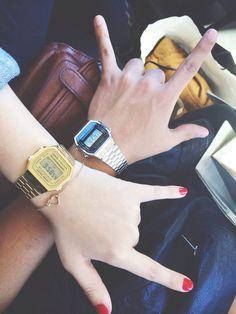 Vintage Casio ElectroLuminesence Digital Watch #casio #watch #vintage #silver #gold - watches, seiko, cool, mens, women, hublot watch *ad