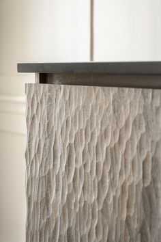 Close up detail of texture. Solid oak and handmade with an adze.
