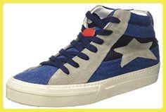 ISHIKAWA Unisex-Erwachsene Marti High-Top, Blu (Blu Jeans), 36 EU - Sneakers für frauen (*Partner-Link)