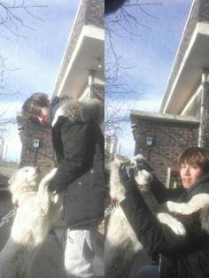 v with animals is just perfect