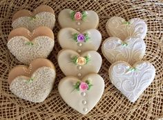 Bridal hearts   Cookie Connection
