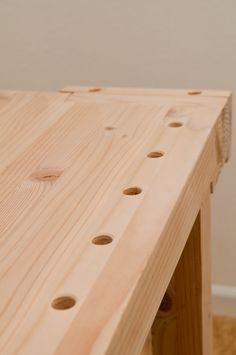 Woodworking Bench Plans of Woodworking Diy Projects - How to Drill Perfectly Vertical Bench Dog Holes in Your Workbench Woodworking Bench Plans, Woodworking School, Learn Woodworking, Easy Woodworking Projects, Wood Plans, Popular Woodworking, Woodworking Furniture, Diy Projects, Woodworking Store