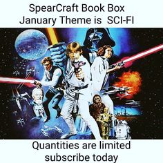 Our theme for the January #spearcraftbookbox is.... SCI-FI!!!  Tag some friends below  and help spread the word. We are down to 31 boxes before we are completely sold out!  The new YA book we've chosen is a science fiction fantasy novel full of political intrigue and adventure. You do not want to miss this book!!  If you're a fan of Science fiction fantasy Divergent or Star Wars then this box is for you!! This box is truely out of this world and you do not want to miss it.  Already a…