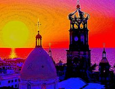 This picture of Puerto Vallarta is the first of a series of pictures that I call, WHY I LOVE MEXICO.  I hope you like them