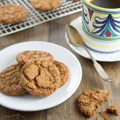 These nut-free and Paleo Gingersnap Cookies are made with tapioca flour and coconut flour. They're crispy on the outside and have a chewy, toffee-like center. You won't believe they are grain-free and gluten-free!