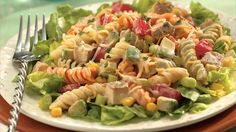 This Southwestern dinner is just 30 minutes away. Chicken pasta salad made special using Old El Paso® salsa.