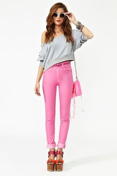 Second skin pink jeans